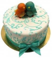№1483 Свадебный торт с птичками