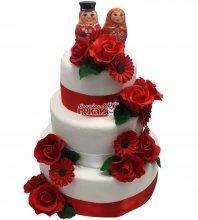 №1485 Свадебный торт с матрешками