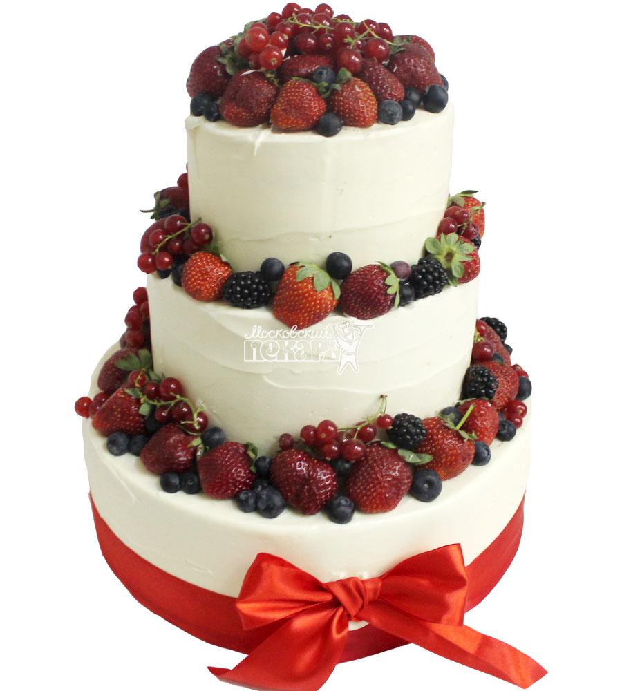 №1489 Свадебный торт с ягодами