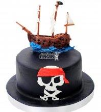 №1508 Детский торт пиратский корабль