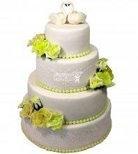 №1512 Свадебный торт классический