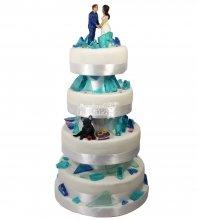 №1518 Свадебный торт с кристаллами