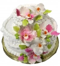 №1520 Праздничный торт с цветами
