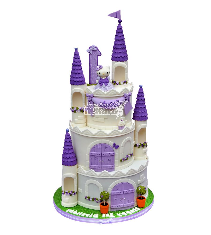 №1704 3D Торт замок