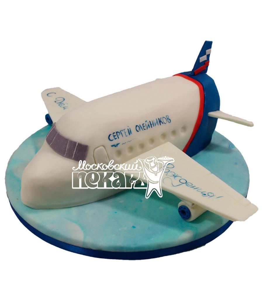 №1718 3D Торт самолет
