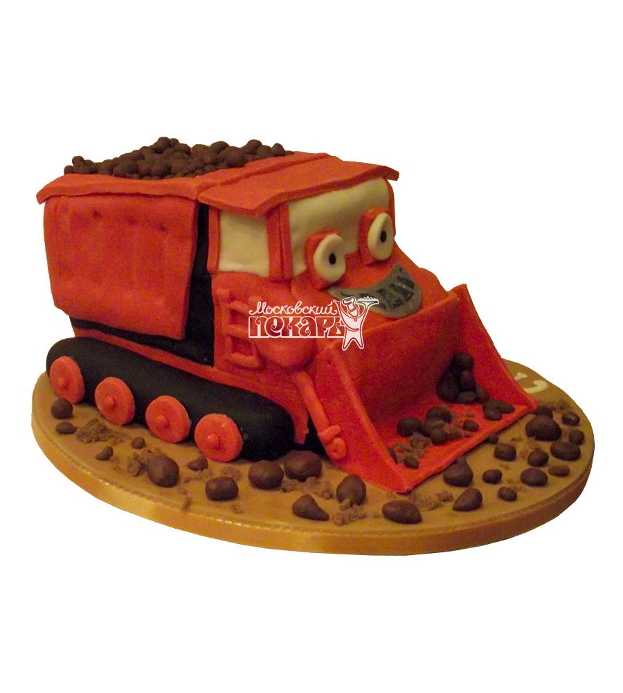 №1733 3D Торт строителю трактор