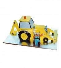 №1735 3D Торт строителю трактор