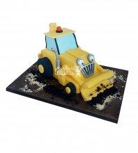 №1740 3D Торт строителю трактор