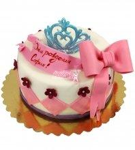 №1848 Торт на день рождения с короной