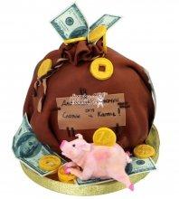 №1850 Торт мешок денег
