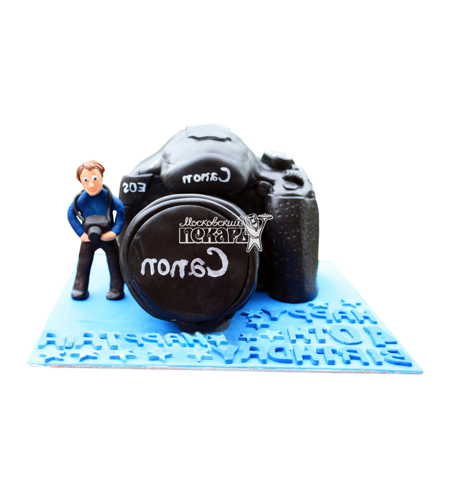№2066 3D Торт фотографу (Фотоаппарат)