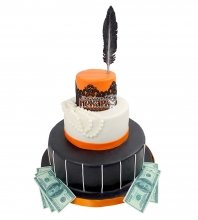 №2104 Свадебный торт с пером