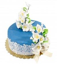 №2108 Свадебный торт с цветами