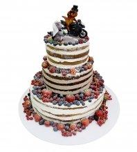 №2113 Свадебный торт с ягодами