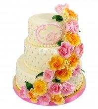 №2114 Свадебные торты с цветами