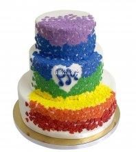 №2118 Свадебный торт с сердечками