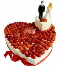 №2120 Свадебный торт сердце