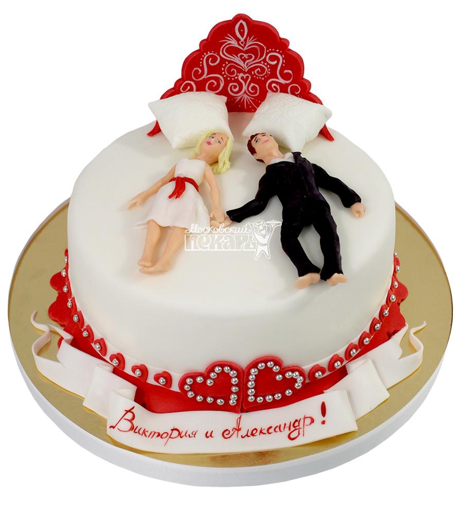 №2129 Свадебный торт кровать