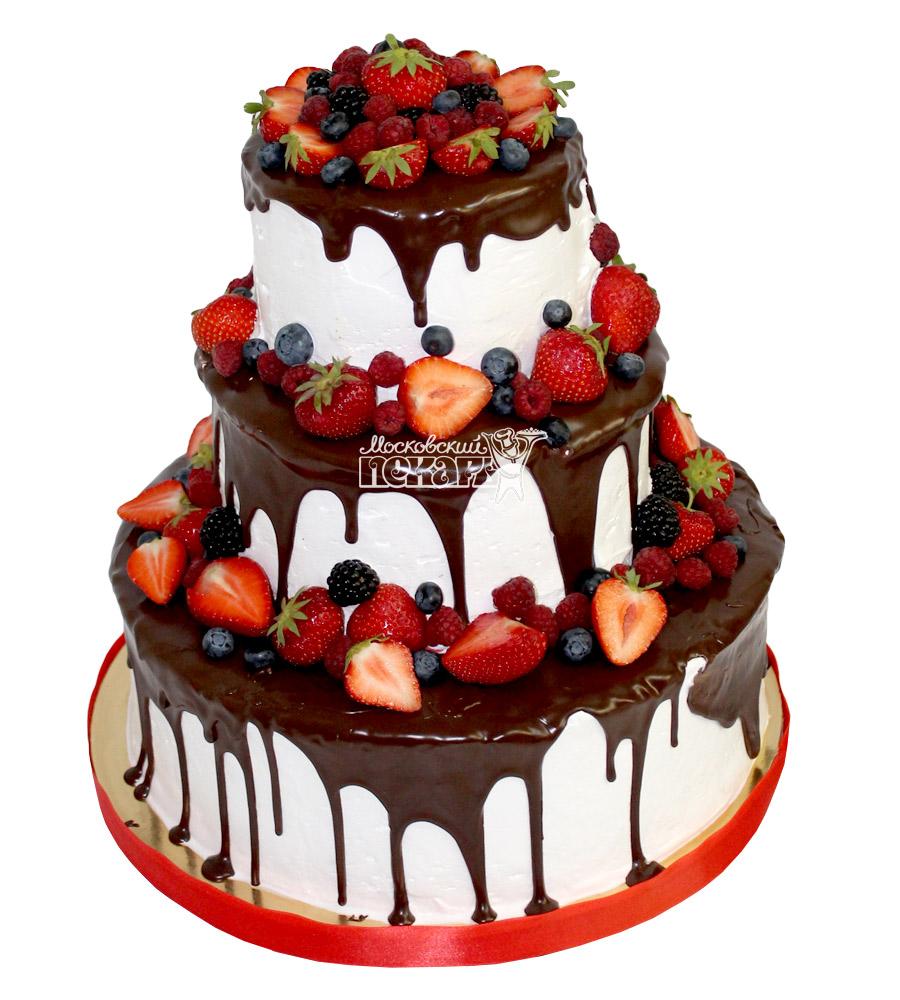 №2149 Свадебный торт с ягодами