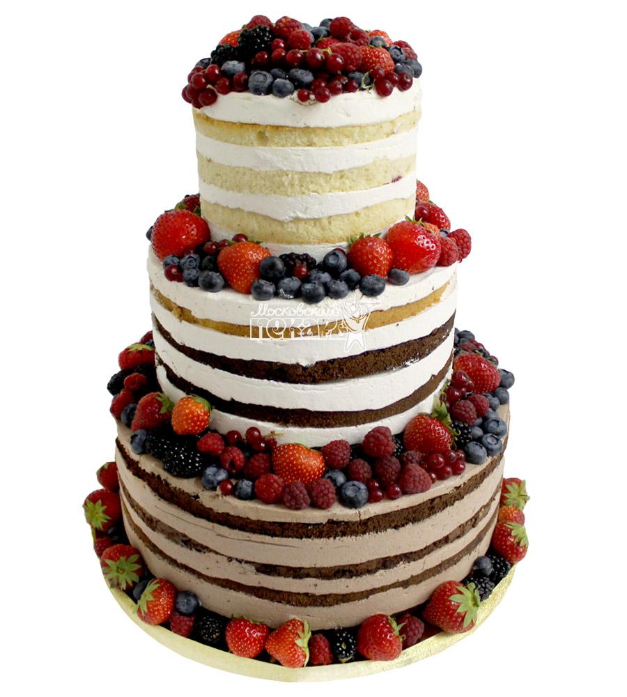 №2153 Свадебный торт с ягодами