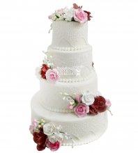 №2155 Свадебный торт с цветами