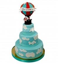 №2161 Свадебный торт с шаром