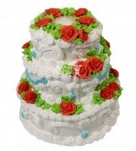 №2162 Свадебный торт со сливками
