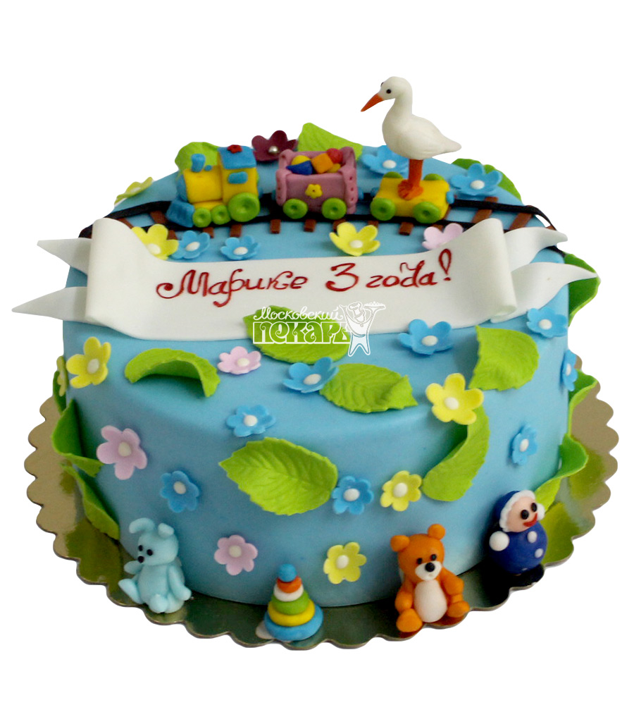 №2168 Детский торт Паровозик