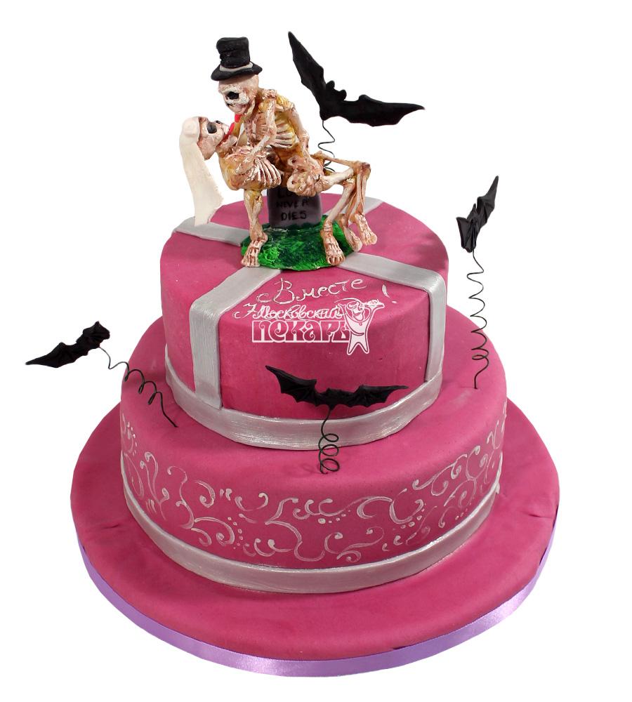 №2184 Свадебный торт со скелетами