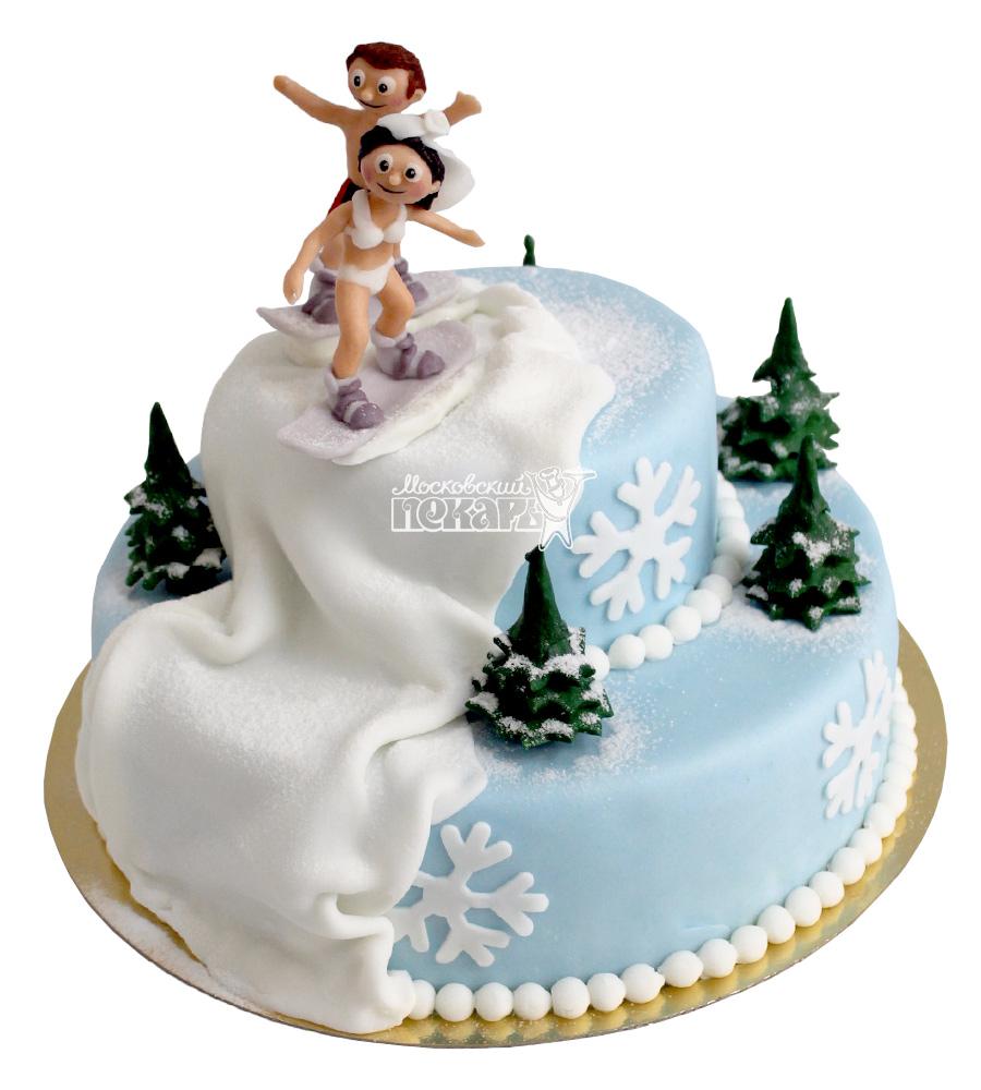 №2187 Торт со сноубордистами