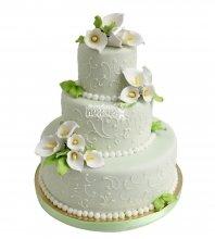 №2206 Свадебный торт с цветами