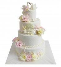 №2212 Свадебный торт классический