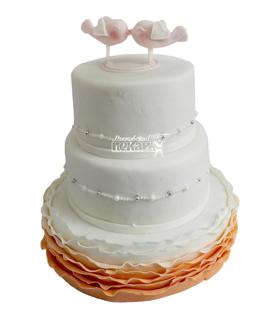 №2222 Свадебный торт классический