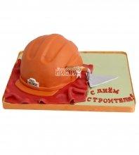 №2225 3D Торт каска строителю
