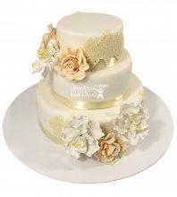№2228 Свадебный торт с цветами