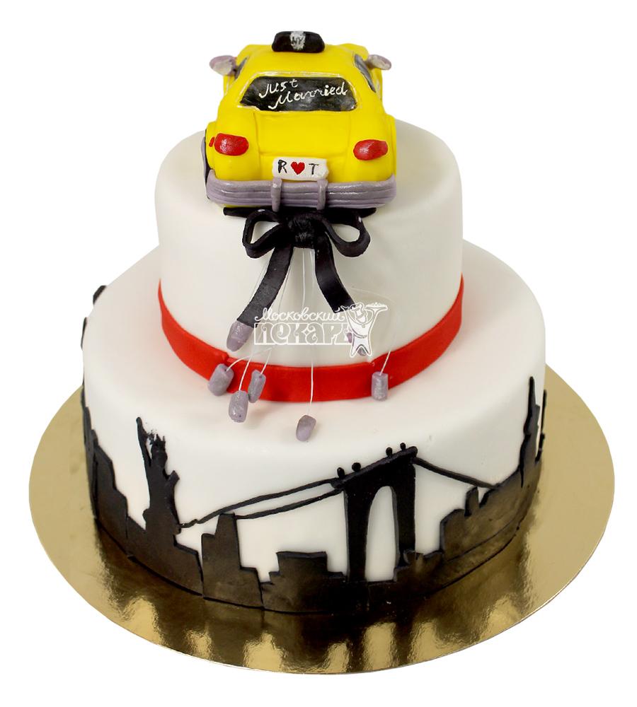 №2229 Свадебный торт с авто