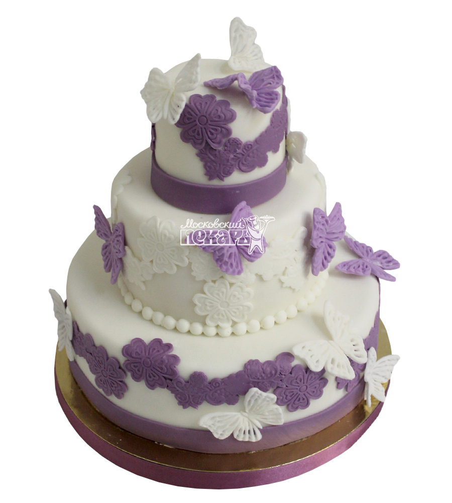 №2231 Свадебный торт с бабочками