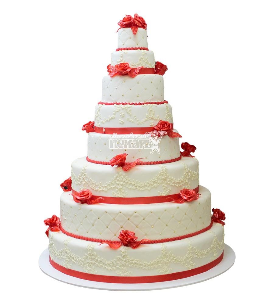 №2233 Классический свадебный торт