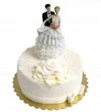 №2234 Свадебный торт с молодоженами