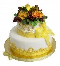 №2235 Свадебный торт с цветами