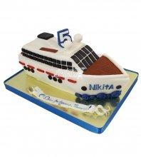 №2242 3D Торт яхта