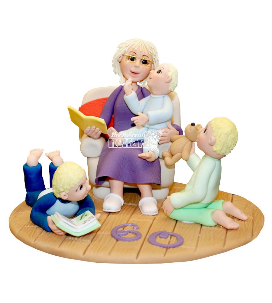 №2251 3D Торт для бабушки