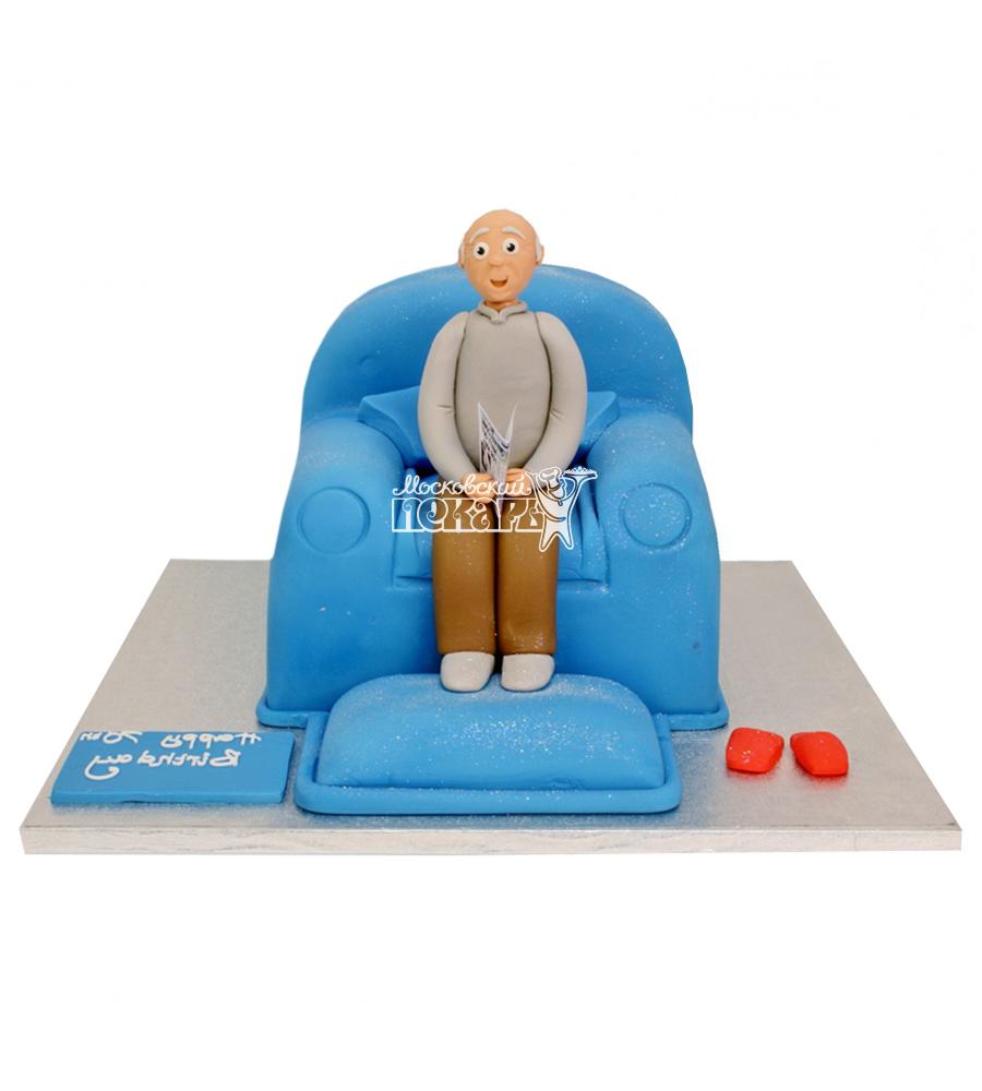 №2316 3D Торт дедушке