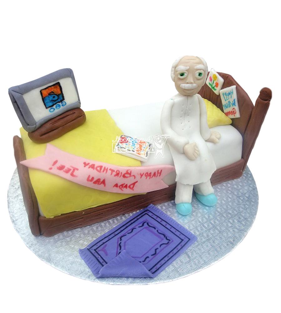 №2322 3D Торт дедушке