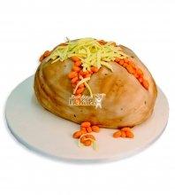 №2400 3D Торт пирог с бобами