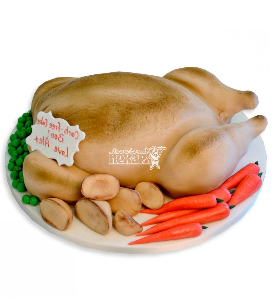 №2408 3D Торт курица