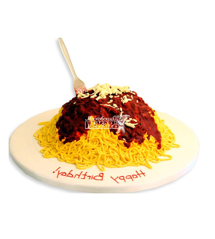 №2409 3D Торт спагетти