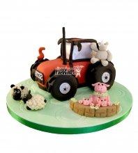 №2443 3D Торт трактор