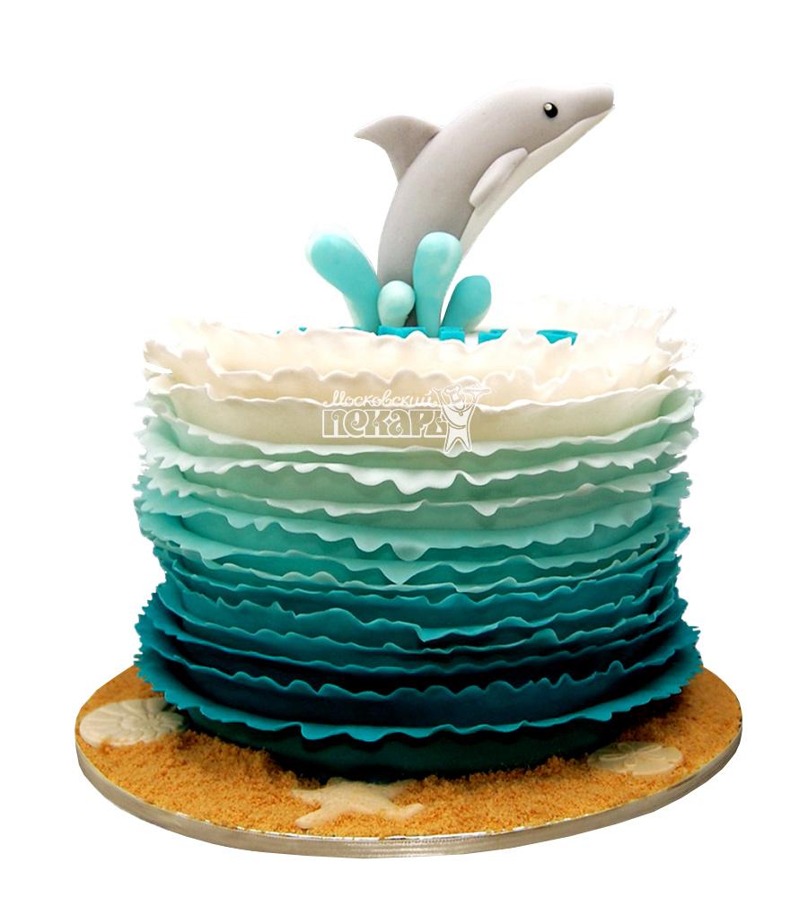 №2554 Торт дельфин