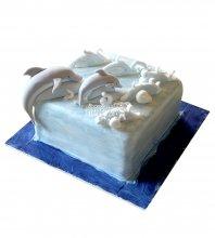 №2556 Торт дельфин